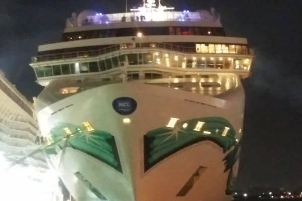 Se daña crucero que llegó el domingo a Puerto Rico