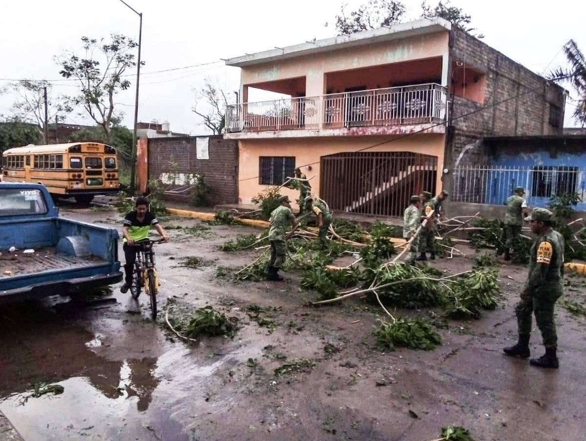 """Daños ocasionados por el impacto del huracán """"Willa"""". Foto: Cuartoscuro"""