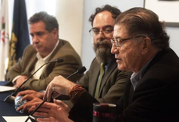 Leonardo Curzio, Juan Carlos Barrón y José Luis Valdés. Foto: UNAM