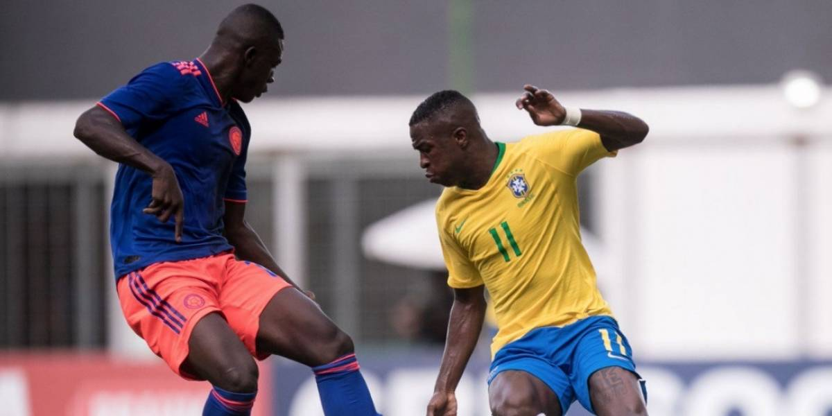 Colombia sub 20 vuelve a medirse a la Brasil de Vinicius