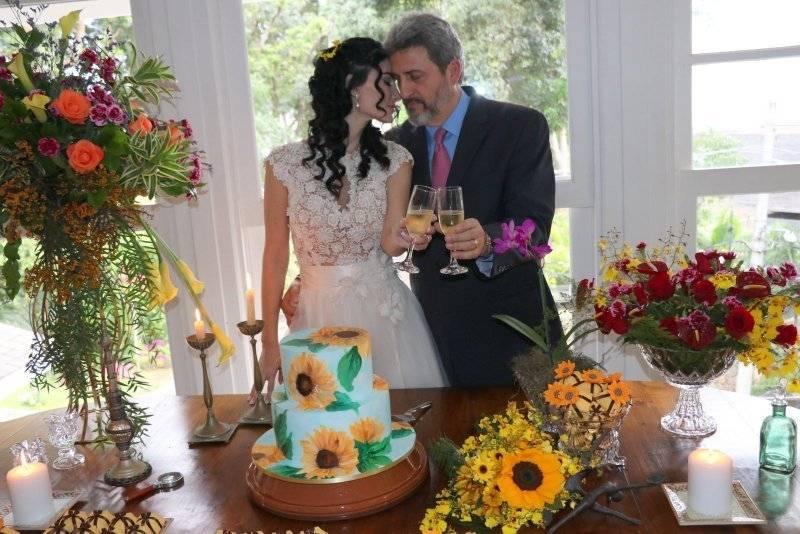 Cristiane Machado el día de su boda