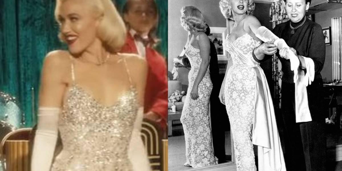 ¡Hermosa! Gwen Stefani se convierte en Marilyn Monroe para su más reciente video musical