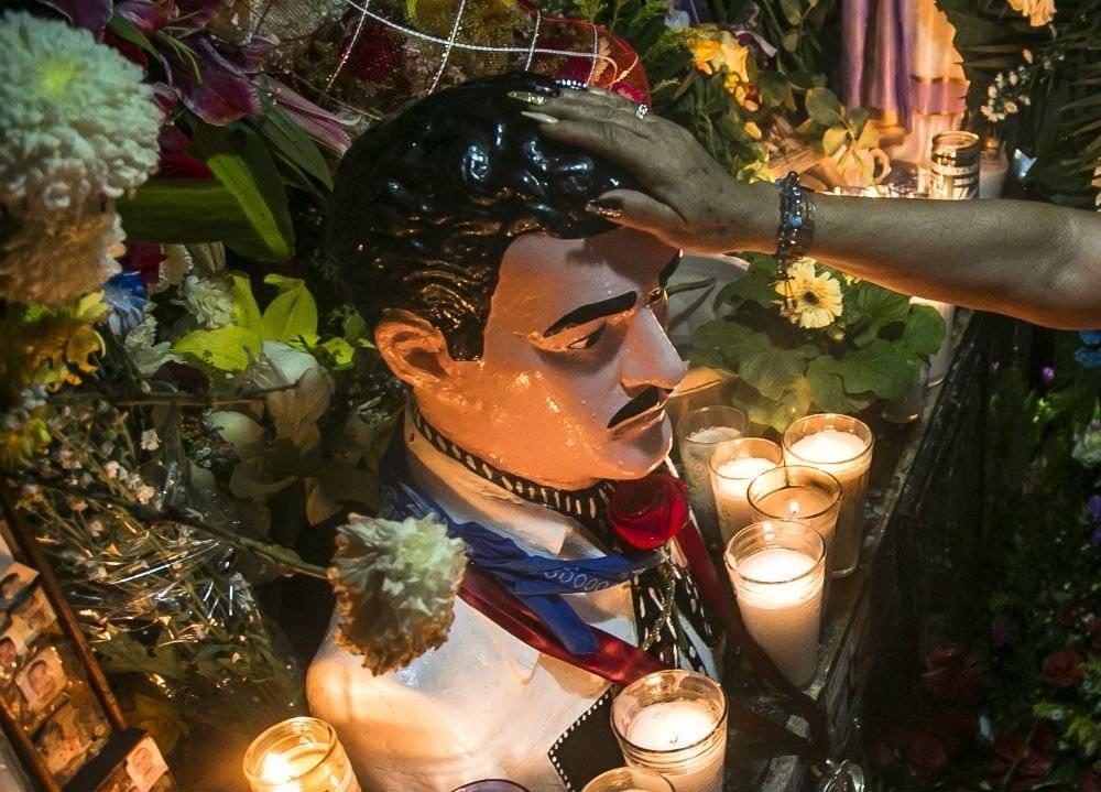 El santo es adorado en Culiacán, y ahora espera ayudar a El Chapo Foto: Cuartoscuro | Ilustrativa