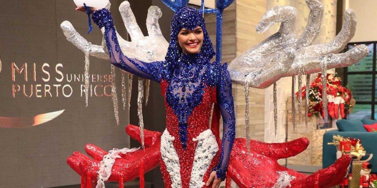 Señorita Colombia responde críticas por su traje típico