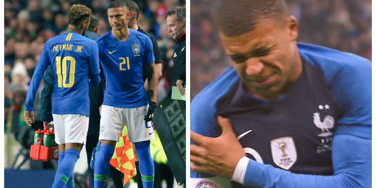 """Sufre el PSG: Neymar y Mbappé se lesionan en amistosos a una semana de la """"final"""" ante Liverpool por la Champions"""