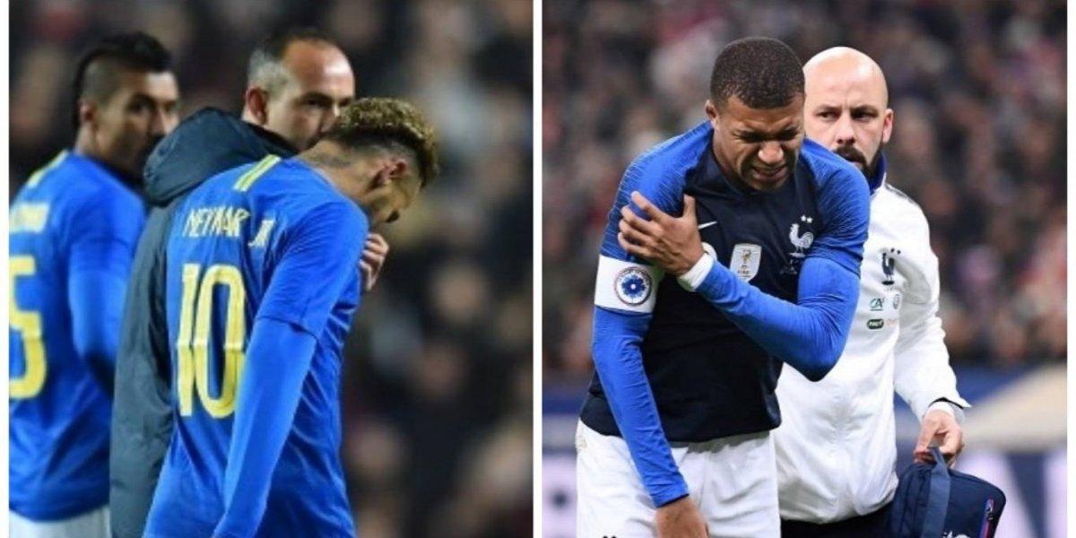 VIDEO. Neymar y Mbappé corren con la misma suerte y salen lesionados
