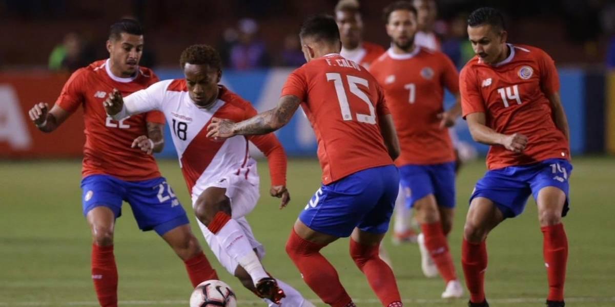 Costa Rica le aplicó la misma dosis de Chile al Perú mundialista de Gareca en Arequipa