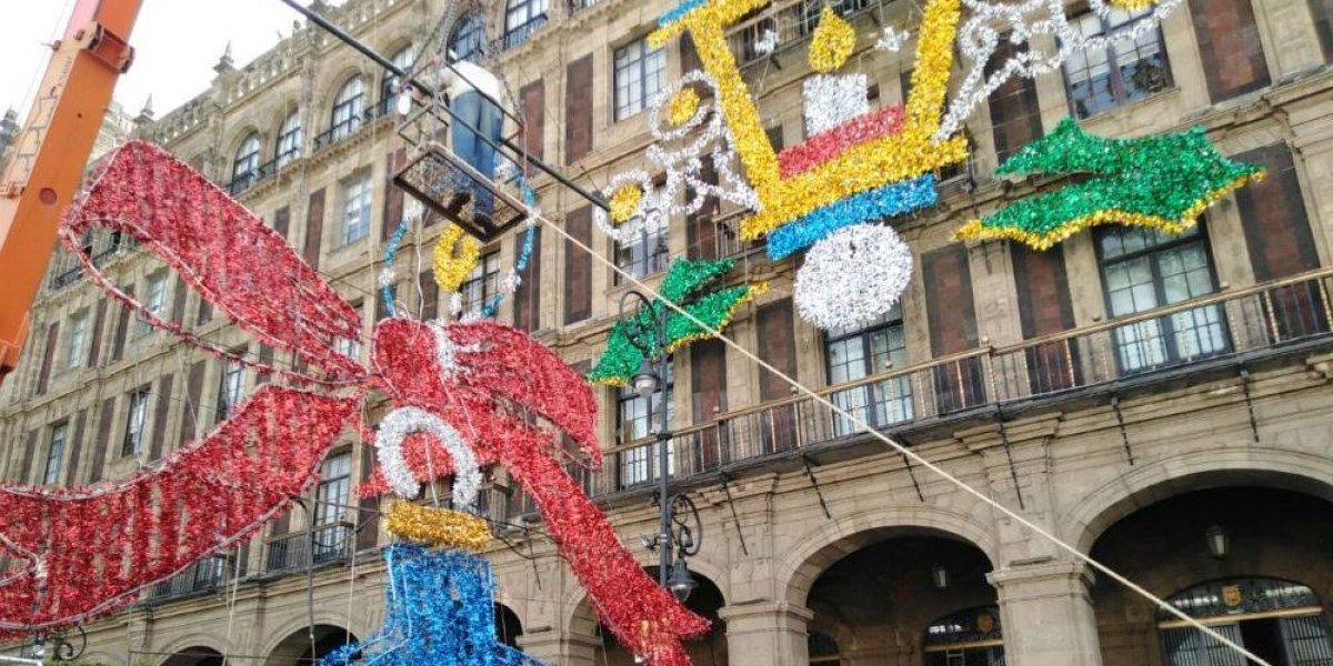 Llega la navidad al Zócalo de la Ciudad de México