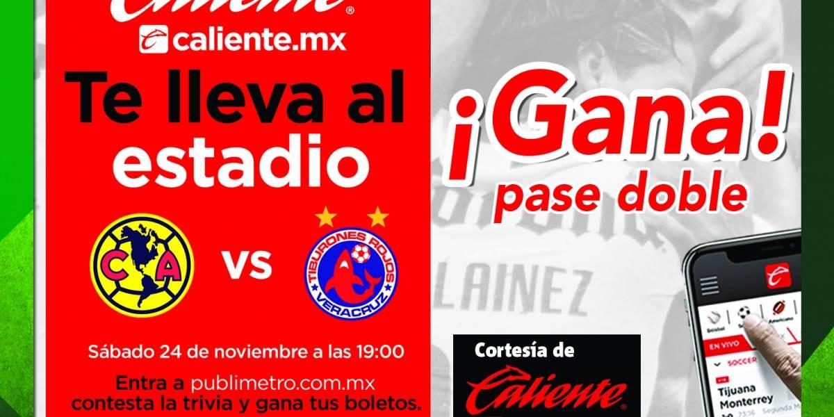 Gana pase doble para el partido América vs Veracruz