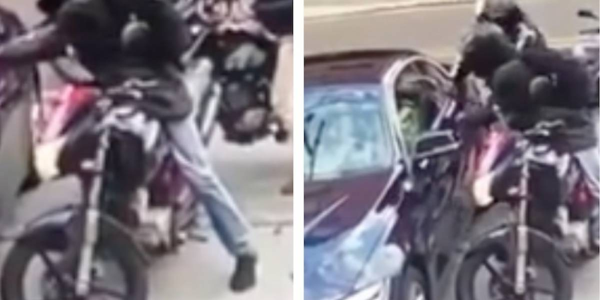 En impactante video quedó registrado el robo a un conductor en el norte de Bogotá
