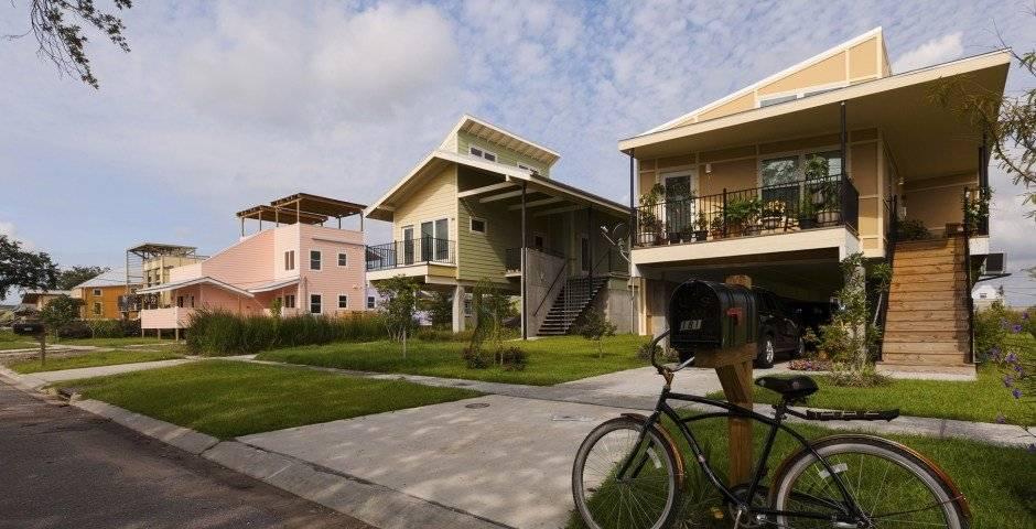 Casas construidas por fundación de Brad Pitt