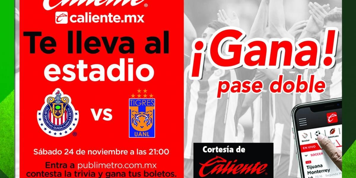 ¡Gana! pase doble para el partido Chivas vs Tigres