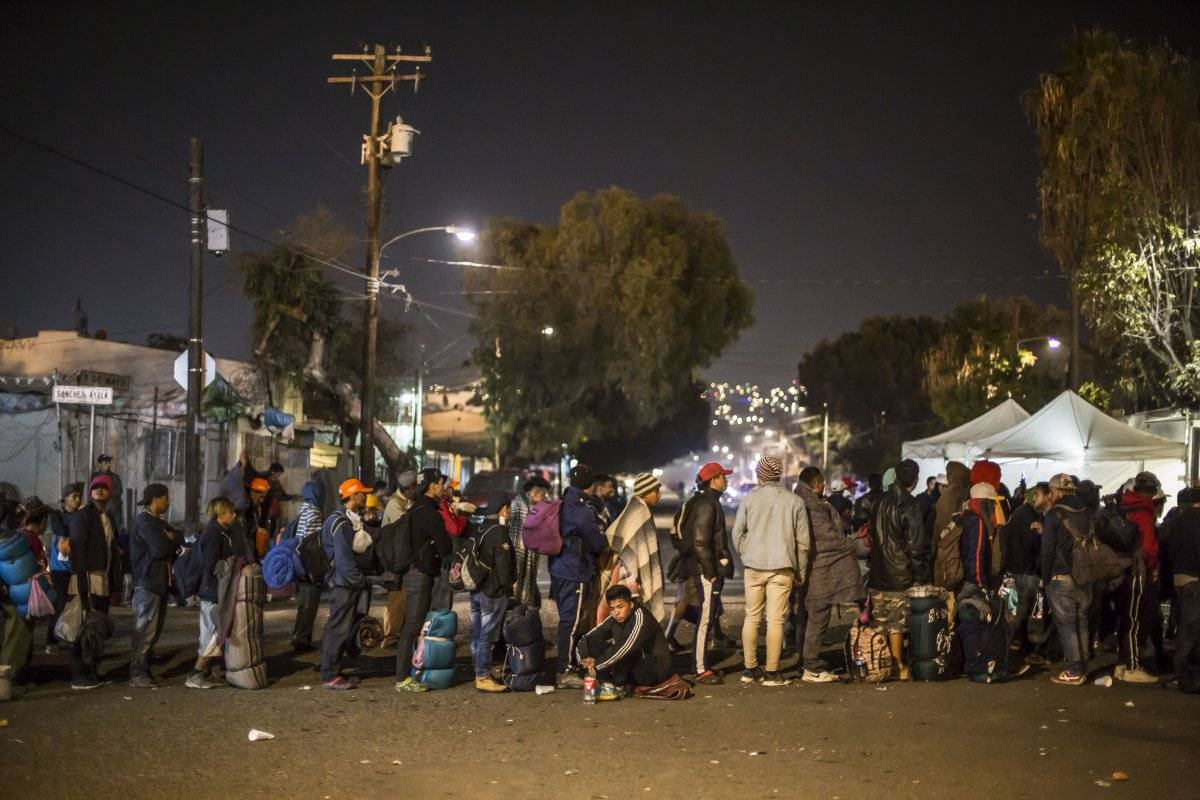 Refugio de migrantes en Tijuana Foto: Cuartoscuro