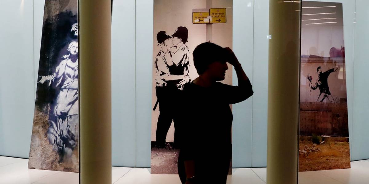 Exhiben obras de Banksy en museo público italiano