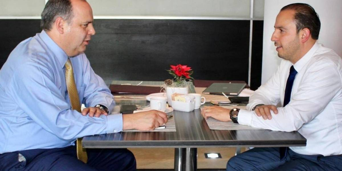 Marko Cortés se reúne con presidente de Coparmex