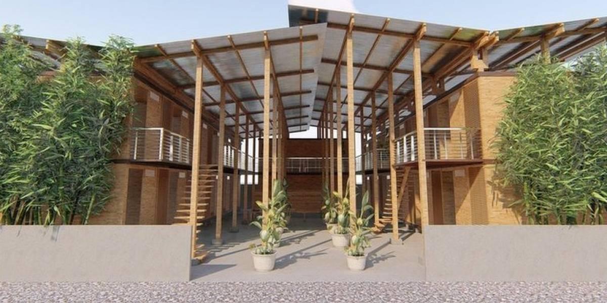 A premiada casa de bambu que pode ser construída em quatro horas