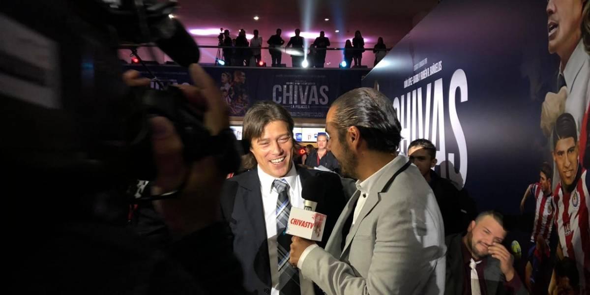 Matías Almeyda protagoniza la alfombra roja de Chivas, la película