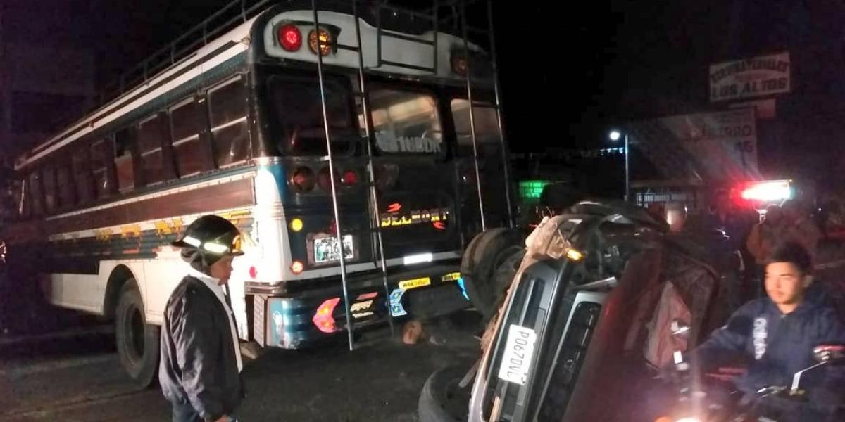 Triple colisión vehicular en la ruta Interamericana deja varios heridos