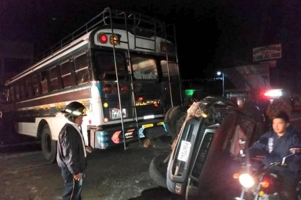 accidente en Km. 61 de la ruta Interamericana