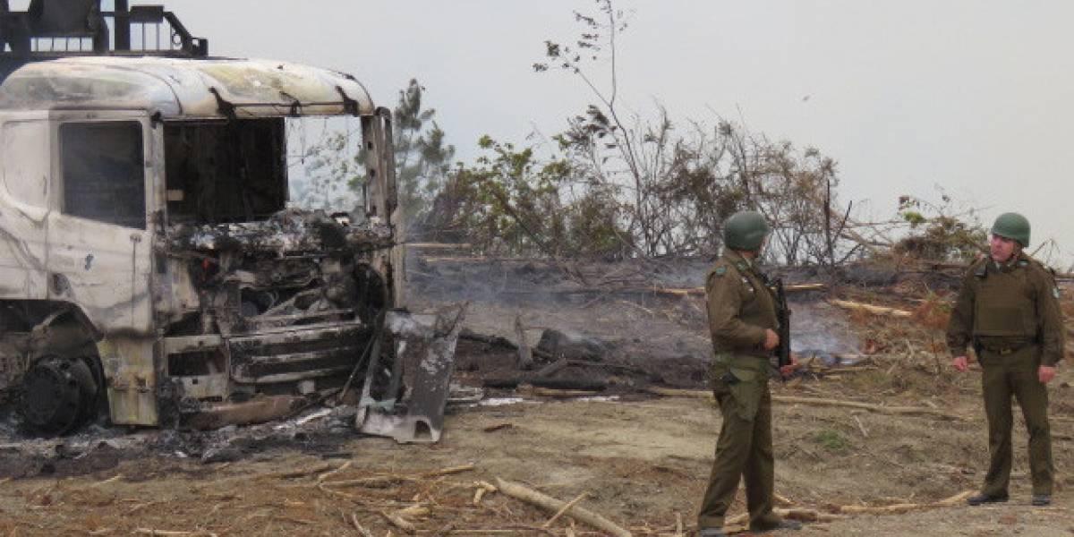 Nuevo atentado incendiario en Curanilahue: CAM dejó panfletos por Camilo Catrillanca