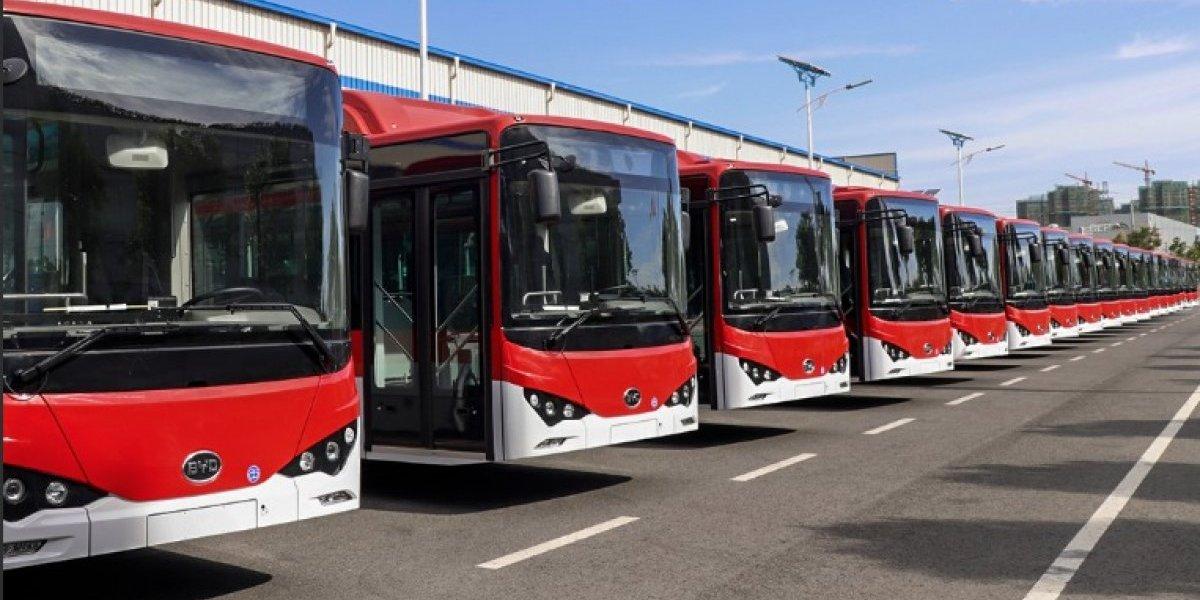 Ya están en Chile: 100 buses eléctricos para el Transantiago esperan el desembarque en puerto de San Antonio