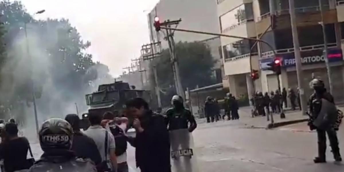Fuertes disturbios a los alrededores de las universidades Nacional y Pedagógica