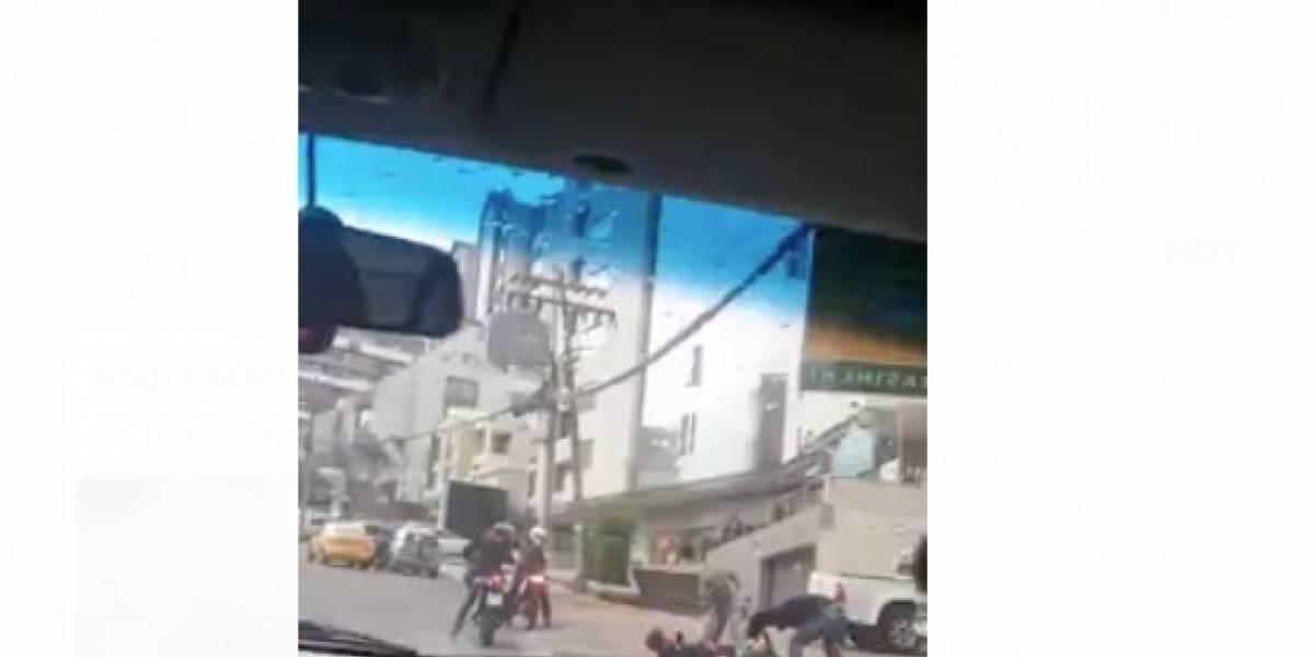 Video: Captan asalto a mano armada en Quito