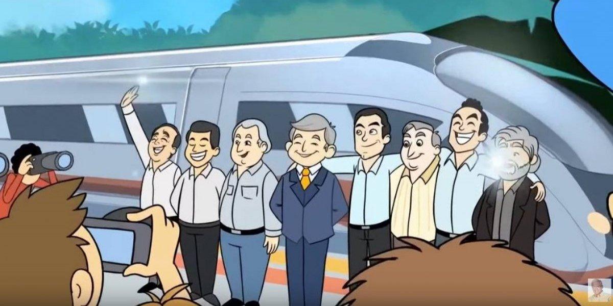 Equipo de AMLO lanza caricatura para promover el Tren Maya