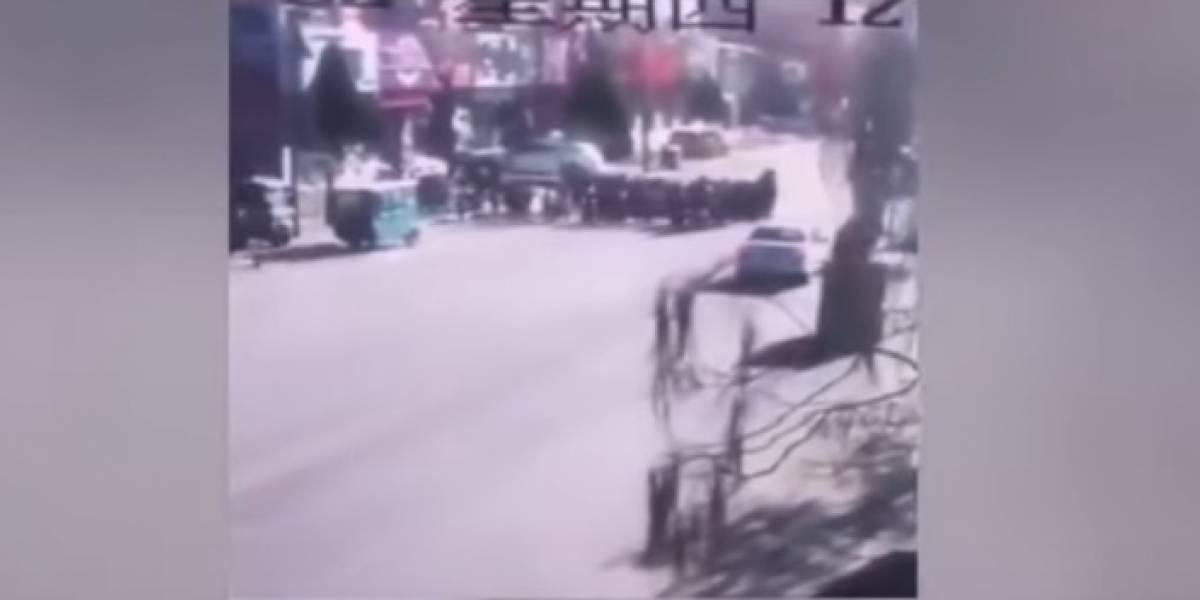 Atropello múltiple en China deja 5 niños muertos y 18 heridos