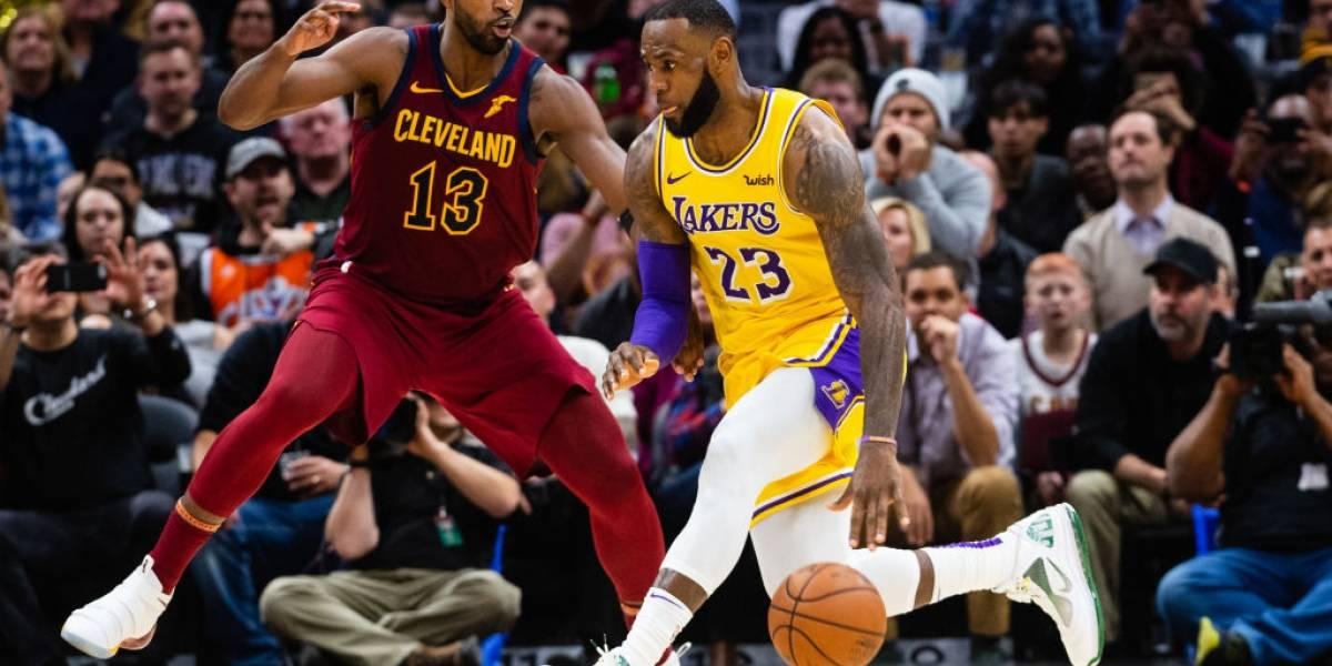 NBA: LeBron James volvió a Cleveland con los Lakers en una noche donde estuvo intratable