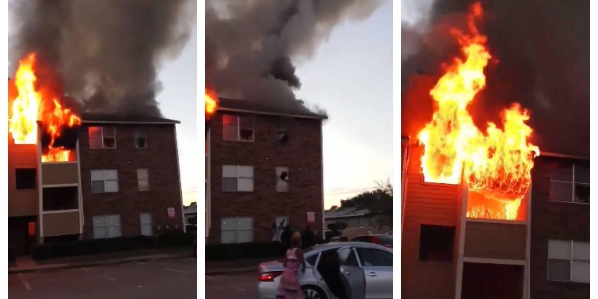 Salvaron a un bebé lanzándolo por la ventana: el increíble escape de dos familias que estuvieron a segundos de morir en un voraz incendio