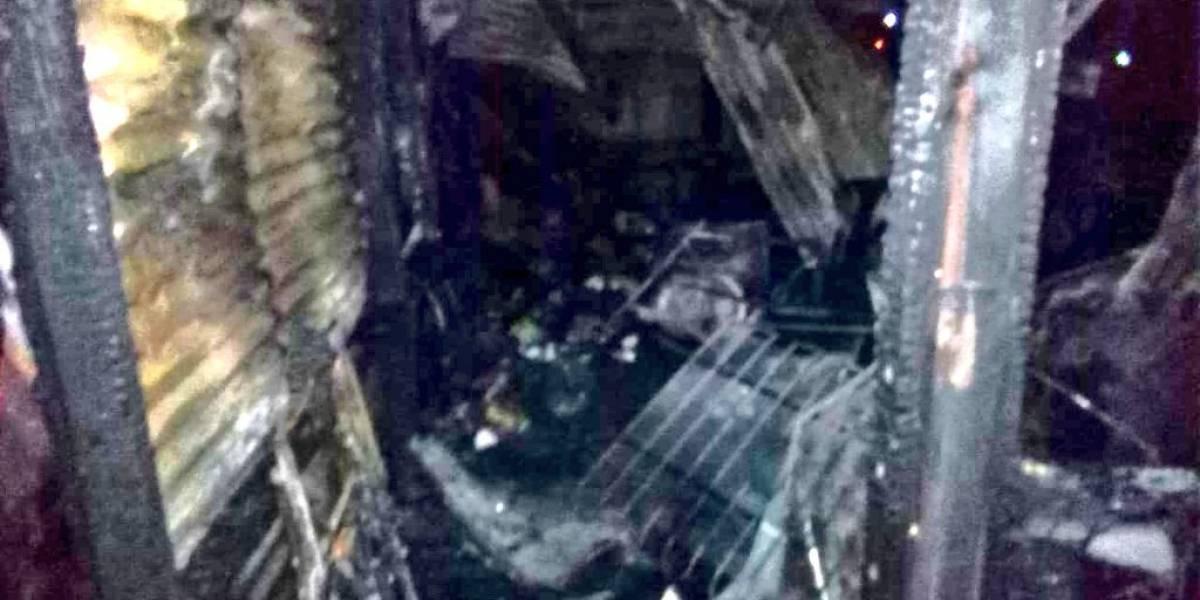 Una joven fallece durante incendio en vivienda de Escuintla