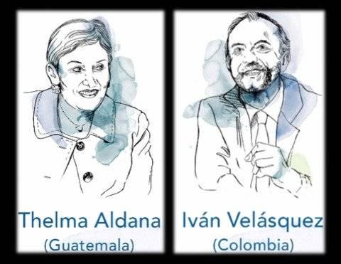 "Thelma Aldana e Iván Velásquez recibirán ""Premio Nobel Alternativo"""