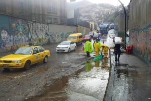 Lluvia en Quito