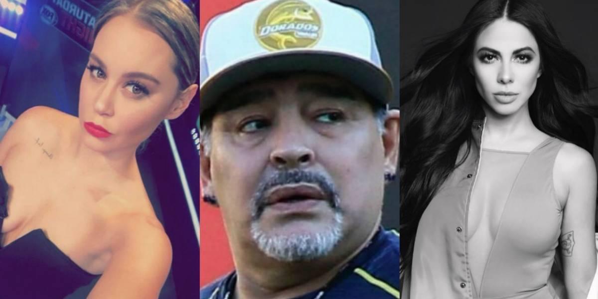 VIDEO: Jimena Sánchez y Vero Rodríguez piden bailar con Maradona