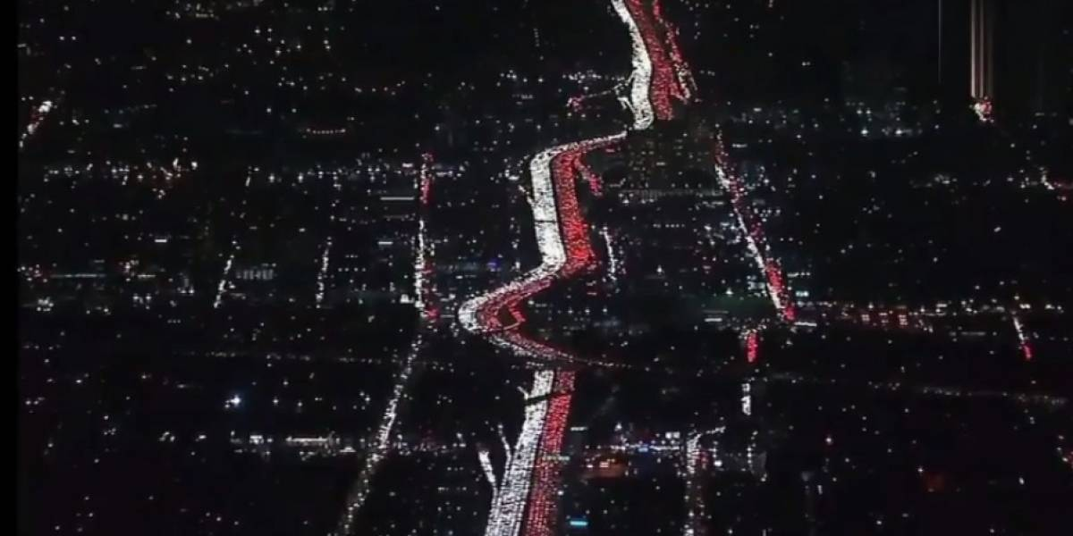 VIDEOS.Impactantes atascos viales en Los Ángeles previo al Día de Acción de Gracias