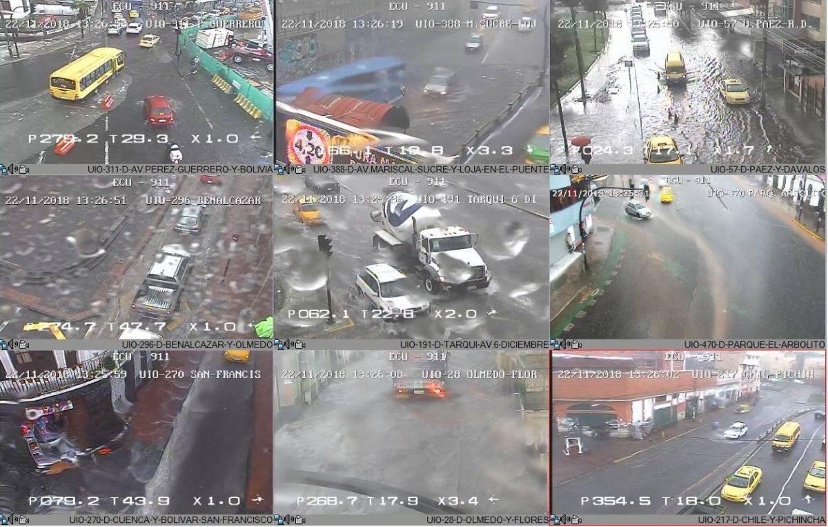 Granizo y acumulación de agua en el Centro de Quito ECU 911