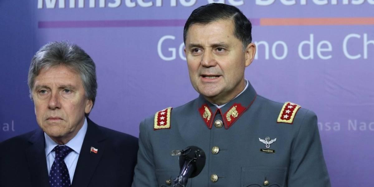 Venta de armas en el Ejército: General Martínez pide disculpas y se compromete a entregar todos los antecedentes