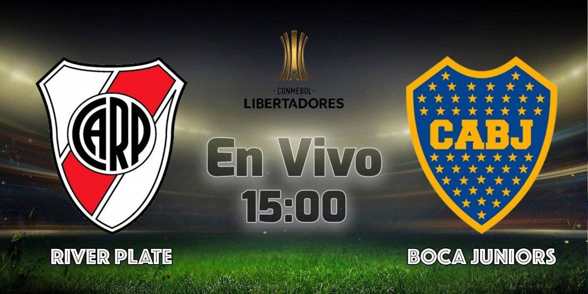 Copa Libertadores: River Plate vs Boca Juniors EN VIVO, dónde ver el partido, canales de transmisión y alineaciones