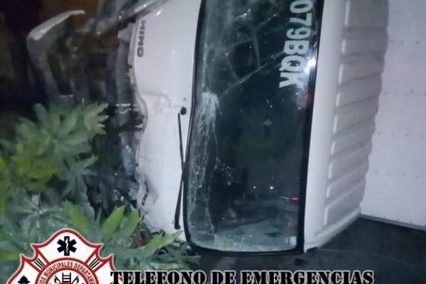 Accidente de tránsito en cuesta El Zope