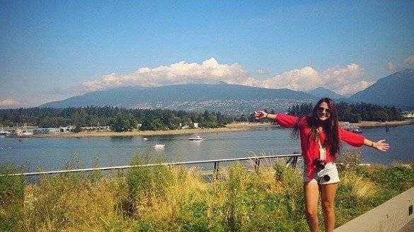 Daniela Almeida en uno de sus viajes