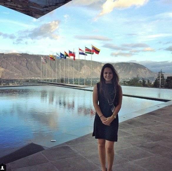 Daniela Almeida en una actividad de la ONU