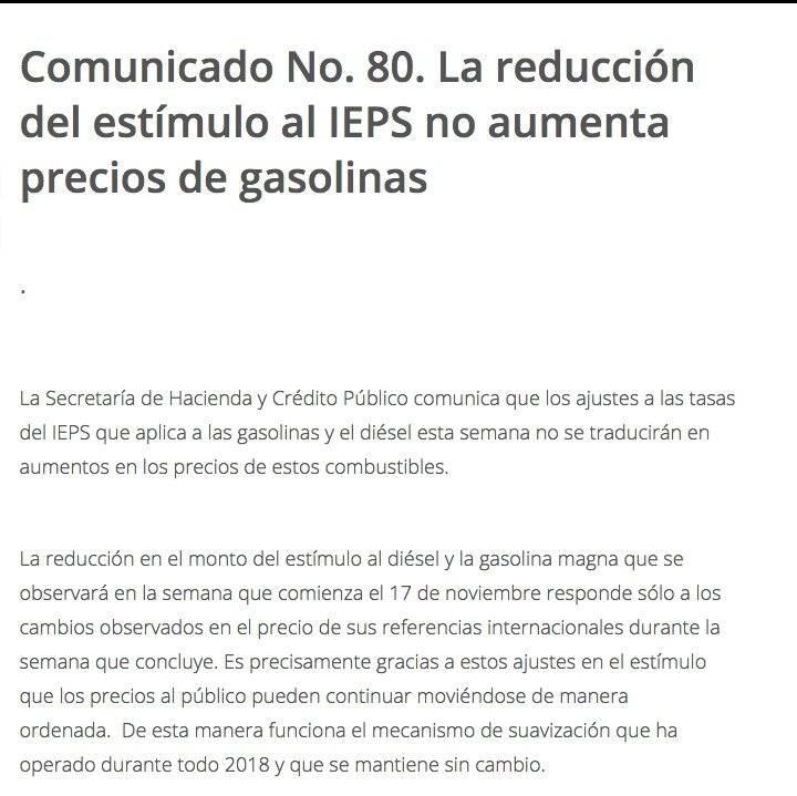 Aumento a las gasolinas