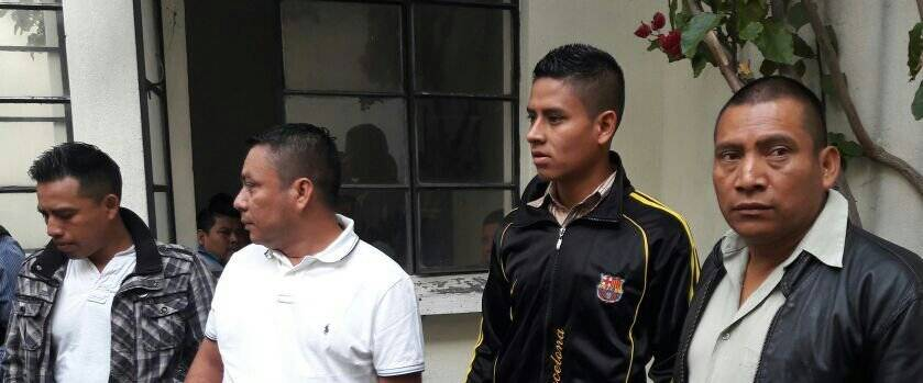 Expolicías capturados. Foto: PNC