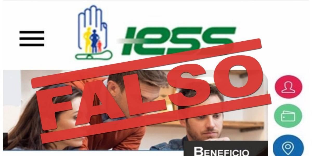 IESS desmiente mensajes que circulan en redes sobre retiro de dinero