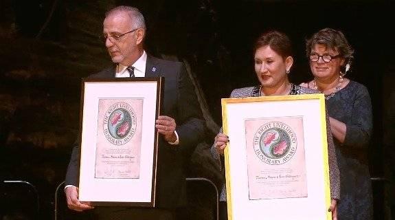 Iván Velásquez y Thelma Aldana reciben el nobel alternativo Imagen captada de la transmisión de Right Livelihood Award