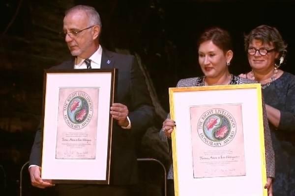 Iván Velásquez y Thelma Aldana reciben el nobel alternativo