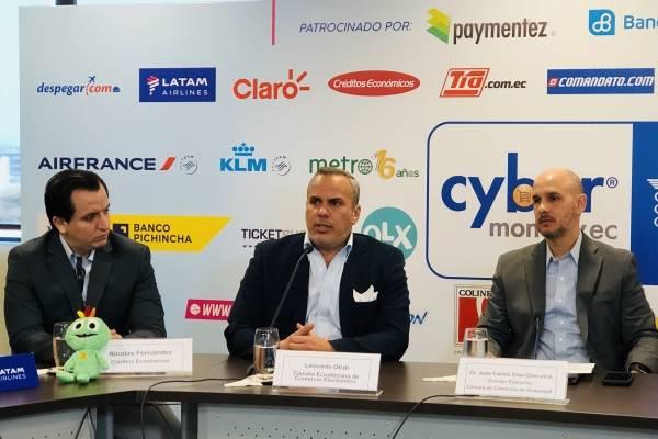 Leonardo Otati en rueda de prensa del lanzamiento de Cyber Monday