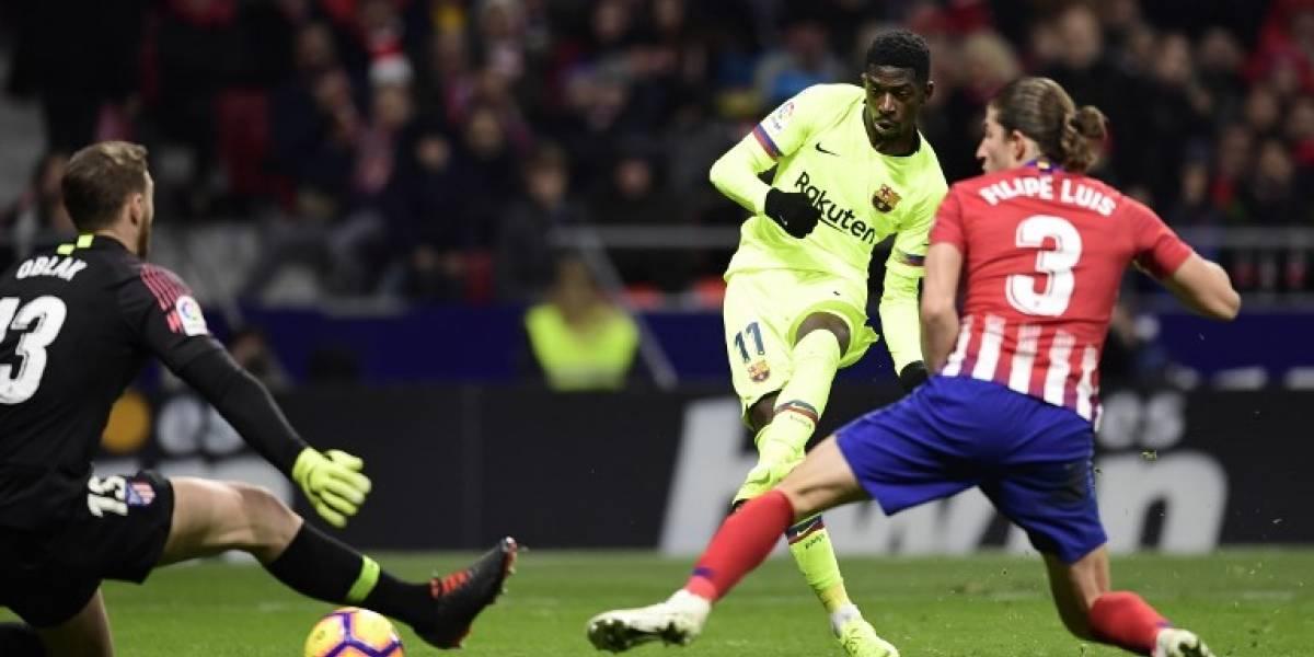 EN IMÁGENES. Dembelé se redime salvando al Barcelona contra el Atlético