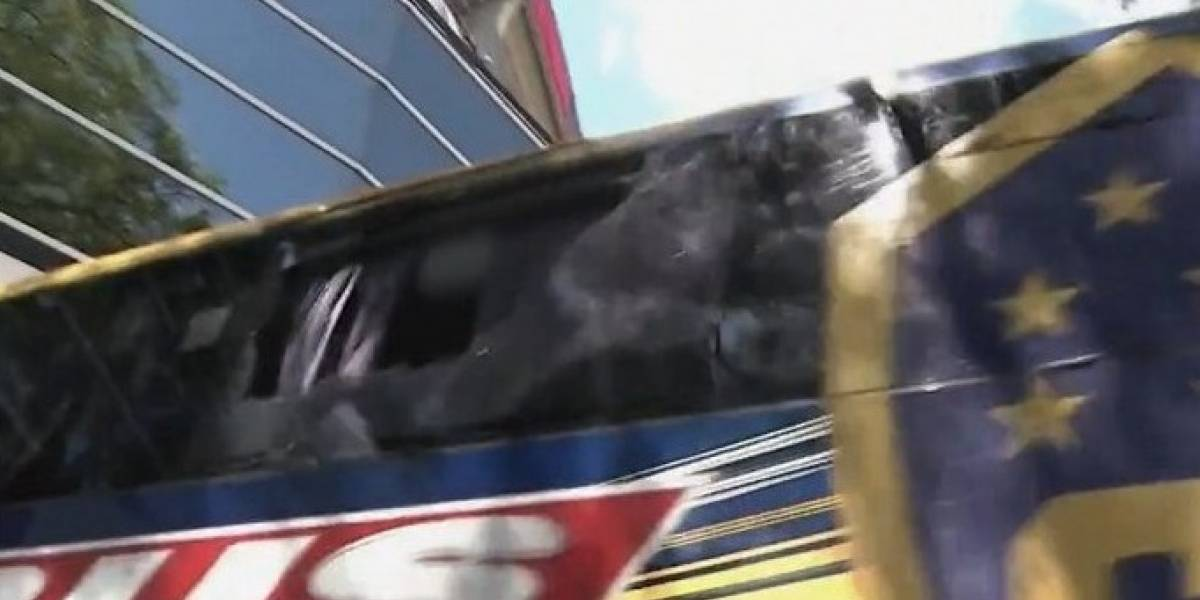 La caótica llegada de Boca Juniors al estadio Monumental que obligó a suspender la final de la Libertadores
